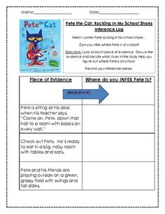This is a simple inferring activity to be used with the book