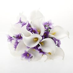 Satin Calla Lily Flower Wedding Bouquet(More Colors) - USD $ 23.99
