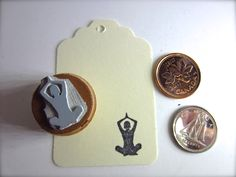 New to etchythings on Etsy: Lotus Pose Yoga Silhouettes Stamp Padmasana SM Y007 (4.85 USD)