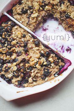 Baked oatmeal option-- any fruit you like, yogurt, chia, oats.