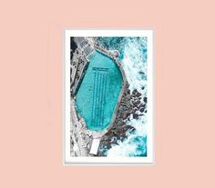Bronte Pool Bronte Beach Bondi Beach Ariel Interior Print Aj Photography, Bronte Beach, Print Place, Beach Print, Ariel, Bond, Display, Fine Art, Art Prints