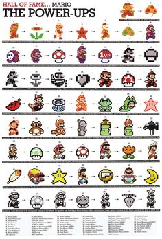 Awesome Marios - possible cross stitches?