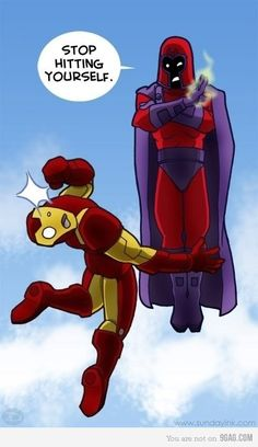 Iron Man vs Magneto - you have to be a dork to get this :)