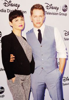 Ginnifer Goodwin & Josh Dallas! I think they care the cutest couple I have ever seen!!! :)