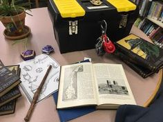 Harry Potter Puzzle Room! Escape room style library program for teens or adults, set in Hogwarts.