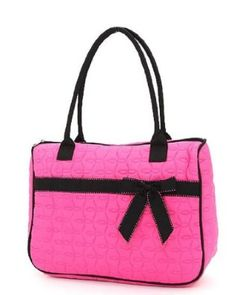 Belvah Quilted Leaf Pattern Tote Handbag with Front Velcro Pocket - Choice  of Colors (FS BK) 6c47ae0e88