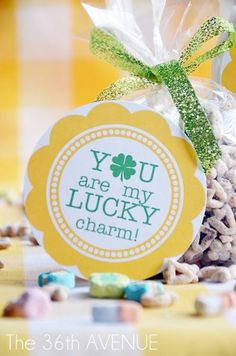 You're my lucky charm tags are an easy way to surprise someone with a fun, simple St. Use Avery full-sheet labels for the tag, or design your own on Avery printable tags. St Paddys Day, St Patricks Day, Saint Patricks, St Pattys, Cheer Sister Gifts, Lucky Charms Cereal, Free Printable Tags, Holiday Fun, Holiday Ideas