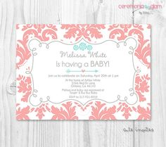 PLEASE READ OUR POLICIES BEFORE PURCHASE OUR PRODUCT:  https://www.etsy.com/shop/ceremoniaGlam/policy?ref=shopinfo_policies_leftnav    Office hours are:  Monday trough Friday 7 pm - 11 pm ( CENTRAL TIME ) Saturday 7 pm - 10 pm  CLOSED: Sunday and Holidays     BABY SHOWER PRINTABLE INVITATION    Format: 5x7 or 4x6 300 DPI JPEG - Digital file  ♥You can print as many as you need at your local photo lab or from home printer!    ♥ If you have any concerns about whether you will receive your order…