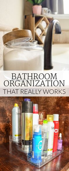 Try these bathroom storage and organization ideas that you can implement in under 5 minutes! Each one makes it faster to KEEP the bathroom clutter-free every day.
