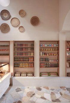 inspiring modern interior of australian eatery and deli, via porta, designed by studio esteta. #baskets #walldecor #wallbaskets #basketcollection #deli #eatery #melbourne #australia #travel
