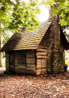 Small log cabin.                                                                                                                                                                                 More