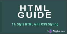 Style HTML with CSS Styling