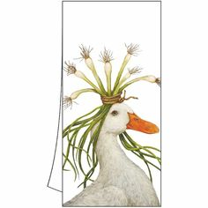 An always appreciated and affordable hostess gift! Cotton tea towels / kitchen towels, keep a couple on reserve and be sure to grab one for yourself! Goat Gifts, Decorative Napkins, Animal Paintings, Kitchen Towels, Gifts In A Mug, Illustration Art, Illustrations, Art Prints, Drawings