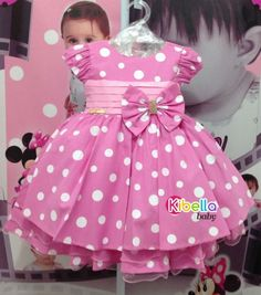 Vestido minnie, vestido minnie rosa, vestido de festa da minnie, vestido infantil, Vestido de festa infantil, vestido infantil de menina, vestido tema da minnie, vestido de 1 ano, vestido de aniversario de 1 ano, vestido infantil tematico Cute Toddler Girl Clothes, Toddler Girl Style, Toddler Dress, Baby Dress, Fashion Kids, Baby Girl Fashion, Little Dresses, Little Girl Dresses, Girls Dresses