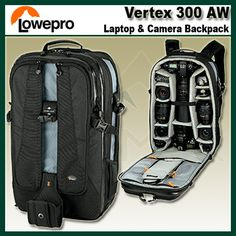 $249.95 Lowepro Vertex 300 AW DSLR Digital Camera Backpack for Nikon Canon Sony NEW