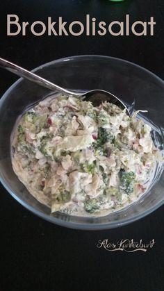 Brokkolisalat mit Bacon und Mandelblättchen von Ala's Kunterbunt #Sommersalat #LowCarb