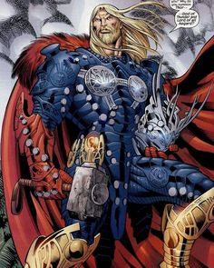 Thor Lord of Asgard Arte Dc Comics, Marvel Comics Art, Bd Comics, Marvel Heroes, Thor Marvel, Marvel 2099, Cable Marvel, Spiderman Marvel, Comic Book Characters
