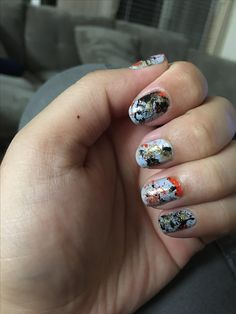 Splatter nail art. Had to blow pretty hard on the straw and it was really messy. Not sure if it was worth it, but I do like it :)