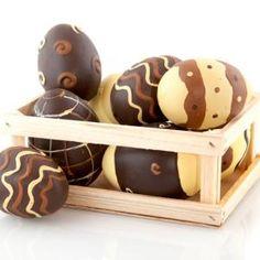 Cómo hacer huevos de Pascua de chocolate#recetasconchocolate #chocolate #chocoadictos #postres #postresdulces #recetasdepascua
