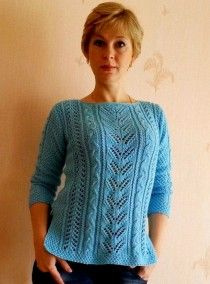 Pullover with Lace Patterns