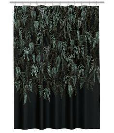 Patterned Shower Curtain   Black/leaf   H&M HOME   H&M US
