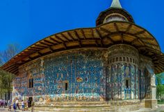 "Reasons to Visit Romania in 2015 - Voronet Monastery, also called ""the Sistine Chapel of the East"""