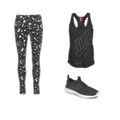 Pour une rentrée sportive, rien ne vaut un total look Nike : fitness, running, stretching, à vous de jouer ! #fashion #outfit