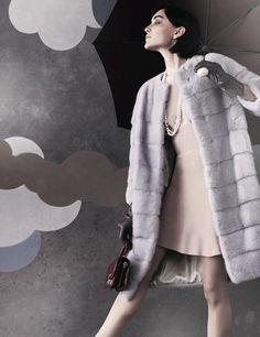 blue mink fur coat