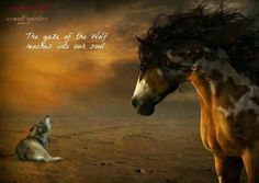 Even the Great horse knows about the Great Wolf spirit
