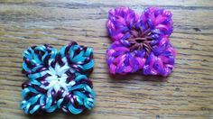 NEW Hook Only Amorosa Flower. Rainbow Loom Tutorials, Rainbow Loom Creations, Rubber Band Charms, Loom Flowers, Monster Tail, Rainbow Loom Charms, Imagination Station, Loom Bands, Child Love