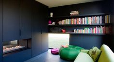 black room by A2D Architects