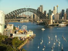 Sydney Harbour Bridge and Luna Park photographed from Lavender Bay - Sydney, New South Wales - Australia The Places Youll Go, Places To See, Brisbane, Melbourne, Orlando, Harbour Bridge, Visit Sydney, Sydney City, Adventure Tours