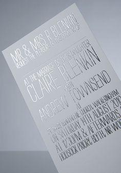 Modern Wedding Invitations: Foil Stamped - Modernly Wed