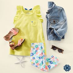 Osh Kosh kids Ruffles and flowers are her always-and-forever BFFs. With a bow at the back, Cute Kids Fashion, Girls Fashion Clothes, Toddler Fashion, Style Clothes, Kids Clothing, Little Girl Outfits, Toddler Girl Outfits, Little Girl Fashion, Toddler Girls