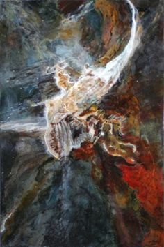 "Saatchi Art Artist Lynn Caspe; Painting, ""Carina Nebula"" #art"