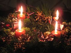 """Christmas Traditions: Advent in Germany, Austria and Switzerland The Advent tradition is a religious celebration in preparation for the arrival, or """"advent"""" of the Christ Child (das Christkind) German Christmas Traditions, A Christmas Story, Little Christmas, All Things Christmas, Christmas Lights, Christmas Decorations, Holiday Decor, Christmas Ideas, Holiday Traditions"""