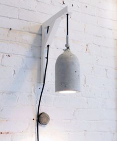43 DIY concrete crafts - Concrete Pendant Lamps - Cheap and creative projects and tutorials for countertops and ideas for floors, patio and porch decor, tables, planters, vases, frames, jewelry holder, home decor and DIY gifts.  http://diyjoy.com/diy-concrete-crafts-projects