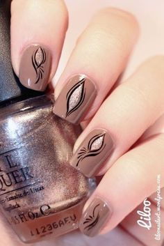 Autumn nails 2016, Brown nails, Calm nails, Cool nails, Evening dress nails, Everyday nails, Fall nails 2016, Fashion nails trends 2016