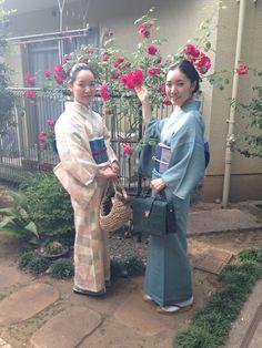 Beautiful sunshine with kimono