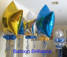 """18th"" #floorbouquets #birthdayballoons #heliumballoons #happy18th #foilstars #partyballoons #happybirthday #cbr #act #canberraballoons  #BalloonBrilliance"