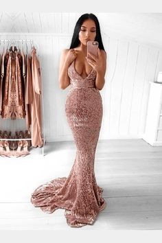 Backless V Neck Sequin Mermaid Prom Dresses Long Sexy Prom Dress – SheerGirl Glitter Prom Dresses, Best Prom Dresses, Backless Prom Dresses, Cheap Prom Dresses, Prom Party Dresses, Graduation Dresses, Tight Fitting Prom Dresses, Bridesmaid Dresses, Prom Gowns