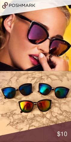 30c40f5c4b0a NWT my girl pointy Cat Eye oversized sunglasses Boutique