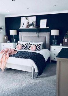 Home Decor Bedroom, Modern Bedroom, Gold Bedroom, White Bedroom, Contemporary Bedroom, Fancy Bedroom, Bedroom Furniture, Decor Room, Ideas For Bedroom Walls