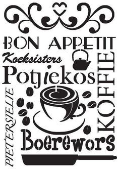 Bon appetite in Afrikaans A Stencil Afrikaanse Quotes, Love Wall Art, Card Sentiments, Pallet Art, Pallet Signs, Photo Heart, Wall Art Quotes, Vinyl Quotes, Fashion Painting
