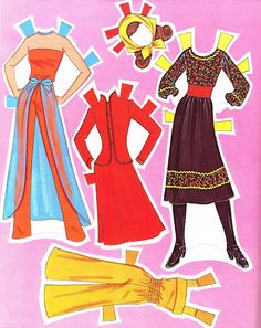 Barbie, Pretty Changes, 1981 - papercat - Picasa Webalbum* 1500 free paper dolls at artist Arielle Gabriel's The International Paper Doll Society also free Asian paper dolls The China Adventures of Arielle Gabriel *