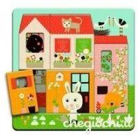 Djeco. Puzzle 3 Niveles Casita de los conejos (31480)