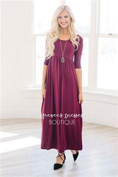 Modest Dresses, Vintage Dresses, Church Dresses and Modest Clothing Modest Dresses Casual, Modest Bridesmaid Dresses, Modest Outfits, Cute Dresses, Vintage Dresses, Bridesmaids, Dresses Dresses, Knit Dress, Dress Up