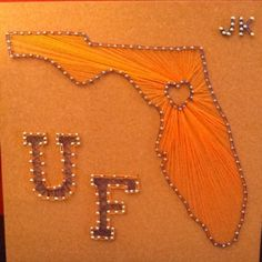 I created String Art to put in my apartment at the University of Florida! Go Gators!