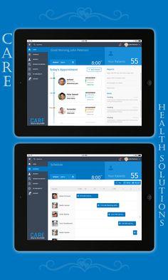 CARE HEALTH -iPad App on Behance