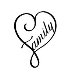 Plasma Cut Black Family Heart SignPhoto Wall SignFamily Room